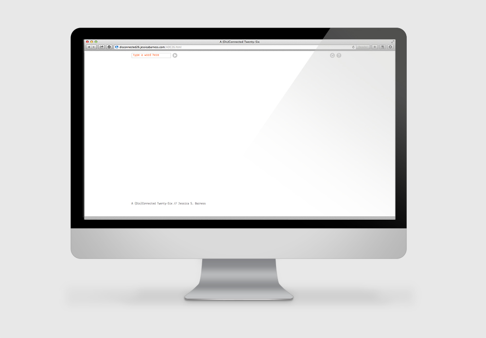 Main interface screen as a blank canvas, user enters text at top left.
