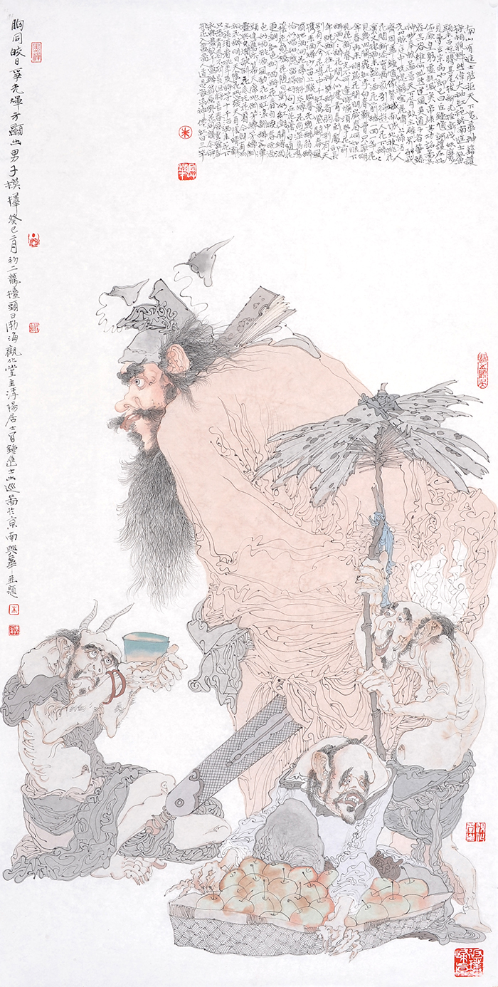 钟进士夜读图 Zhong Jinshi Figure