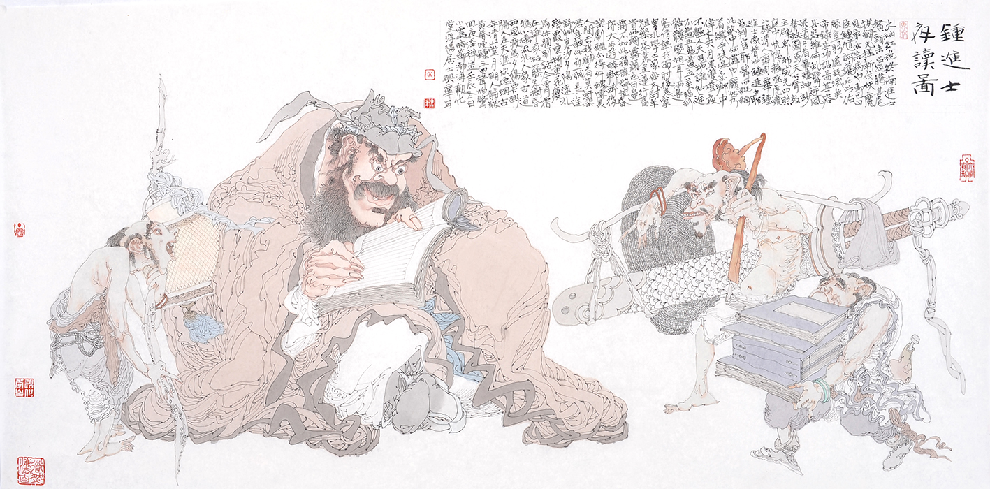 钟进士夜巡图 Zhong Jinshi Night Figure