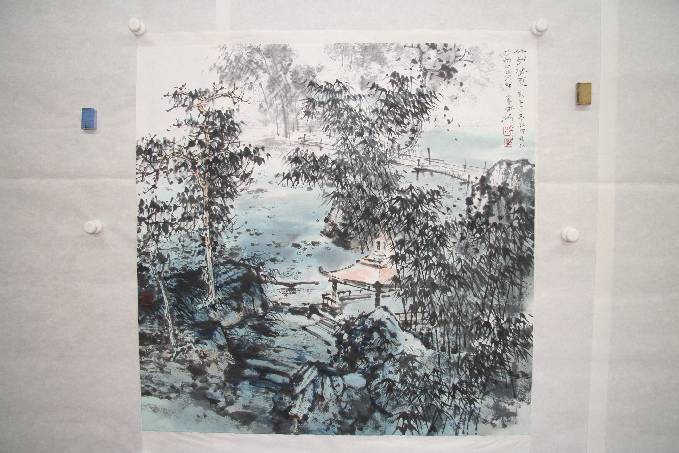 竹亭清夏 Bamboo Pavilion in Summer