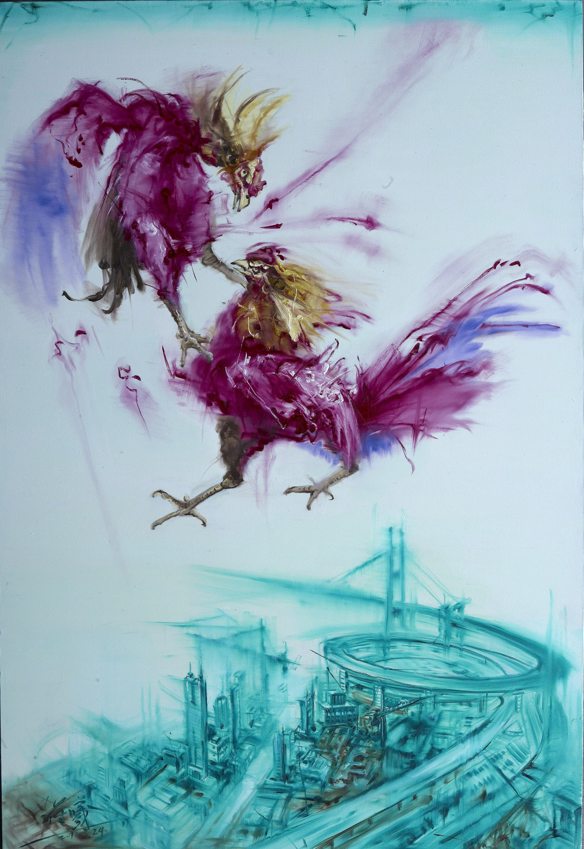 鸡飞(3)  Flying Rooster (3)